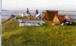 Camping Near by Karnali river, a way to fishing, sighint Freshwater Gangetic Dolphin, Organised by Bardia Jungle Cottage.