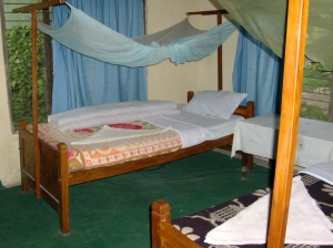 Twin bed with Attached bathroom, running hot & cold water