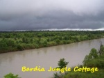 Bardia wildlife with cloudy
