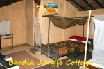 Tharu style Hut with double bedroom and bathroom inside